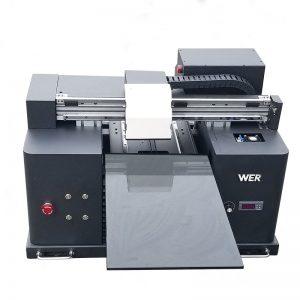 2018 यूव्ही ने फ्लॅटबड प्रिंटर ए 4 डीटीजी टी शर्ट लोगो प्रिंटिंग मशीन विक्रीसाठी WER-E1080T चे नेतृत्व केले