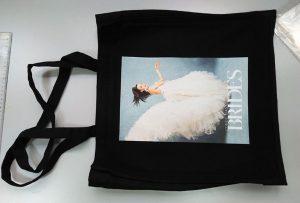 यूके ग्राहकांकडून ब्लॅक नमुना पिशवी डीटीजी टेक्सटाइल प्रिंटरद्वारे मुद्रित करण्यात आली
