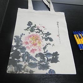 ए 2 टी-शर्ट प्रिंटर WER-D4880T द्वारे कॅनव्हास बॅग मुद्रण नमुना