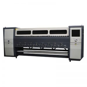चांगली गुणवत्ता K3404I / K3408I सॉल्व्हेंट प्रिंटर 3.4 मी हेवी ड्युटी इंकजेट प्रिंटर