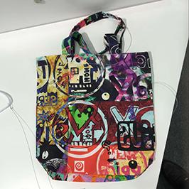 ए 1 डिजिटल टेक्सटाइल प्रिंटर WER-EP6090T द्वारे नॉन विणलेल्या बॅग प्रिंटिंग नमुना