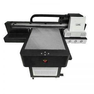 लहान आकाराची उच्च गुणवत्ता फोन केस फ्लॅटबेड यूव्ही प्रिंटर WER-ED6090UV