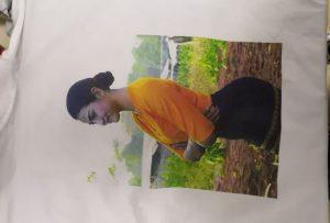 WER-EP6090T प्रिंटरमधून बर्मा क्लायंटसाठी टी शर्ट प्रिंटिंग नमुना
